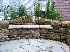 dry stone bench - Home Page Stone Bench, Stone Garden Bench, Outdoor Stone, Sloped Garden, Dry Stone, Garden Features, Garden Seating, Garden Stones, Dream Garden
