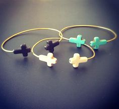 Double Cross Bangle. $6.00, via Etsy. Just ordered these bracelets, the shop so inexpensive and cute!