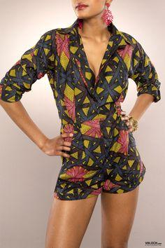 MANSAYA COMBI SHORT LOLY II ~African fashion, Ankara, kitenge, Kente, African…
