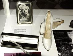 Image detail for -The Palms of Great Canary. Audience Alfredo Kraus. Exhibition `Marilyn the Dream `of personal objects of the actress Marilyn Monroe. Shoes designed by...