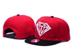 Diamond Supply Co. Rock Snapback Casquettes - rouge,noir,blanc