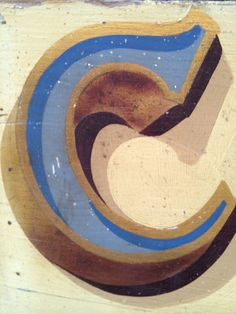 Fairground Font 2d haind painted C