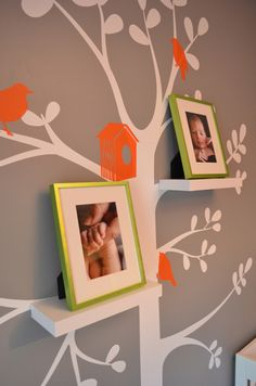 "Close up of Brady's ""family tree"" I put on the wall by his crib."