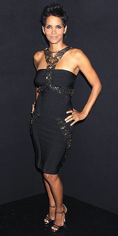 Halle Berry in Herve Leger at Whitney Houston Grammy Concert Tribute