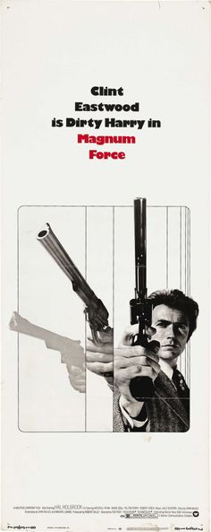 Magnum Force insert movie poster. Clint Eastwood as Dirty Harry