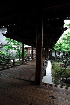 Courtyard in Kennin-ji Temple, Kyoto, Japan