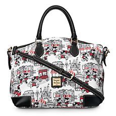 Mickey and Minnie Mouse Downtown Satchel by Dooney  Bourke - Red