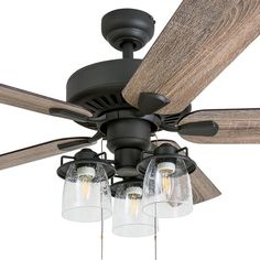 "52"" Pankey 5 Blade LED Ceiling Fan"