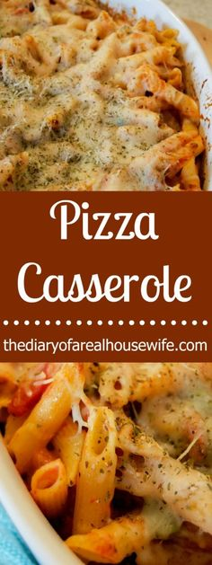The BEST Pizza Casserole. I love this simple recipe for a fun family pizza night.
