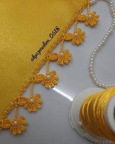 Crochet Lace, Crochet Hooks, Free Crochet, Embroidery Stitches, Hand Embroidery, Embroidery Designs, Crochet Edging Patterns, Baby Knitting Patterns, Saree Kuchu Designs