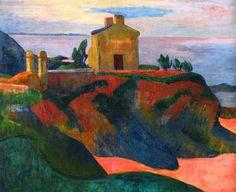 Paul Gauguin (French, 1848-1903). La casa en Pan-Du, colección particular, 1890. Carmen Pinedo Herrero.