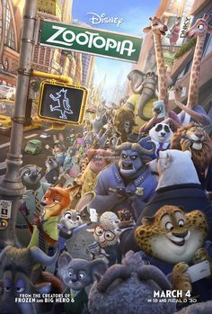 CINEMA unickShak: ZOOTOPIA - cinemas USA Premiere: 4th March 2016