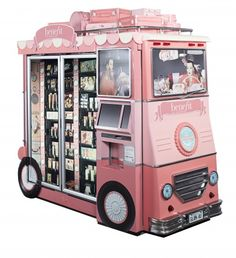Just cute and clever Awesome Benefit Cosmetics vending machine! So darling, I always liked their packaging but makeup in a vending machine? I prefer that to chips and twinkies any day! Benefit Cosmetics, Benefit Makeup, Foundation Cosmetics, Kombi Trailer, Makeup Package, Pop Display, Display Ideas, Point Of Purchase, Cosmetic Packaging