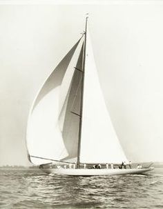 1930 America's Cup Winner J-Class Enterprise (Image from Rosenfeld Collection)