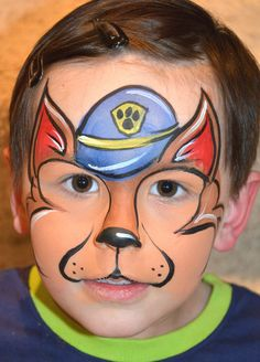 Disposable Face Mask with Earloop, Breathable and Comfortable for Personal Care Protection Masks) Animal Face Paintings, Animal Faces, Face Painting Tutorials, Face Painting Designs, Paw Patrol Face Paint, Face Painting For Boys, Disney Face Painting, Looks Halloween, Scary Halloween