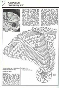 Photo from album on Yandex. Crochet Doily Diagram, Filet Crochet Charts, Crochet Flower Patterns, Crochet Motif, Knitting Patterns Free, Free Crochet, Free Knitting, Crochet Circles, Crochet Round