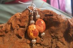 Desert Jasper and silver bead earrings by MarquisCreations on Etsy, $9.99