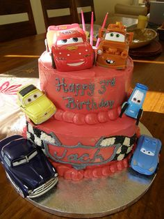 Cars cake, via Flickr.