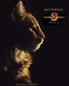 Buttercup deserved a poster too! From the official Hunger Games movie posters #HungerGames