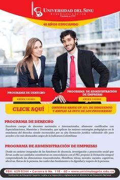 #NOVOCLICK esta con #usinu y sus Programas de Derecho y de Administracion de Empresas