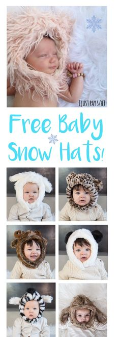 Free Baby Stuff!  How to get Free Baby Winter Hats to keep cozy while looking ridiculously cute!  These make such FUN Baby Shower Gifts, too!   http://thefrugalgirls.com/2016/02/free-eskimo-kids-hat.html