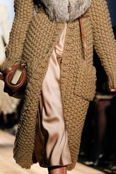 Super chunky knit coat from Michael Kors