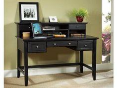 Bedford Black Executive Desk and Hutch Model #: 5531-152