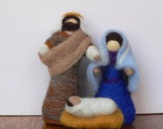 Needle felted Nativity . Nativity Waldorf Wise by darialvovsky
