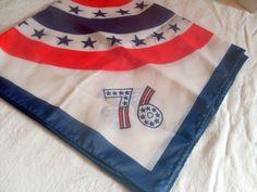 1976 Bicentennial Scarf Commemorative Patriotic by AngelasArtistic, $12.99
