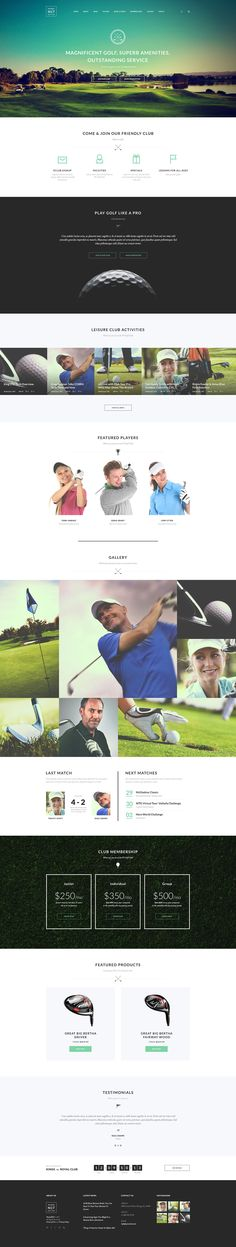Modern and professional N7 is a perfect option for tennis clubs (as well as other spotrs), personal trainer's page, sports centers, tennis / sport review magazine, and sports store.