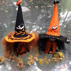 Halloween Wool Felt Witch Peg Doll Witch Waldorf Inspired