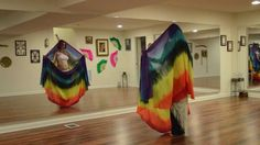 Montage of Belly Dance DOUBLE Veil Moves