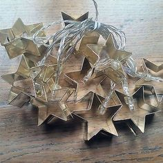 Gold #metal christmas cookie cutter stars fairy #lights led light up #garland dec,  View more on the LINK: http://www.zeppy.io/product/gb/2/371485409716/
