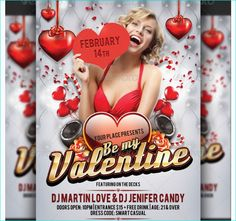 Valentines Day Party Flyer Template - Party Flyer Templates For Clubs Business & Marketing