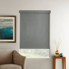 Room darkening roller shades are easy to install and function. Cut costs on energy bills and protect your furniture from sun damage with these cost effective window treatments! Window Coverings, Window Treatments, Solar Shades, Blackout Blinds, Shades Blinds, Room Darkening, Roller Blinds, Canada, Sun