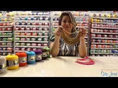 Maxi Colar de crochê com Glamour - Professora Simone Eleotério - YouTube