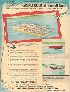 Casino Pier Ad from 1957