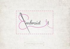 Embroidery Logo Design Pre-made Logo by PetiteDesignBoutique