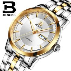 2d79db49e4ca Wrist Sapphire Switzerland Men Watch Automatic Mechanical Binger Luxury  Brand Reloj Hombre Men Watches Stainless Steel B 5067M-in Mechanical  Watches from ...