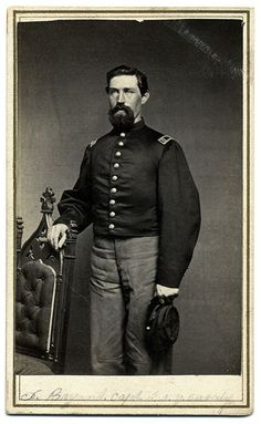 James Bryant by J. Berry of Owego, N.Y. Bryant, who served as captain of Company G of the Fifth New York Cavalry, was wounded and captured during the fighting around Spotsylvania near Guinea Station in May 1864. He survived and mustered out of the army in 1865.