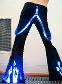 Pants Girls Blue Flame with free suspenders - Phat pants - Womens $160