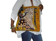 Batik tote van YAMAL op Etsy