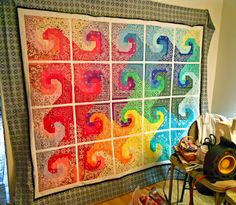 Bandanna quilt… very colorful from Dishfunctional Designs: Creative Crafts To Make With Bandannas