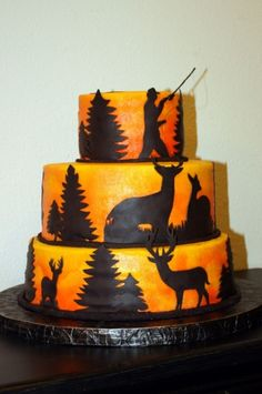 Hunting & Fishing Cake By RosemaryGalpin on CakeCentral.com