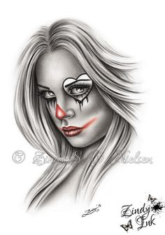 clown girl drawing - Google Search