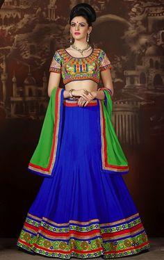 Picture of Butta Blue Color Splendid Lehenga Choli