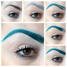 Idea for changing your eyebrow color--great for cosplay If I worked as a styles for the capitol n the hunger games for district 4 id do this to there eyebrows Cosplay Tutorial, Cosplay Diy, Cosplay Makeup, Costume Makeup, Cosplay Ideas, Costume Ideas, Costumes, Sfx Makeup, Makeup Tips