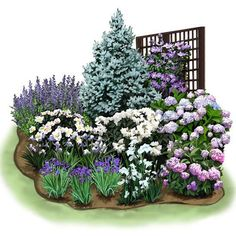 Cozy Corner Garden Plan Create a pocket of color in your yard with this garden plan filled with easy-to-grow favorites. #flowergardenplanningideas