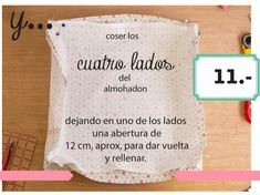 dobleufa: Almohadones acolchados (tutorial) Learn To Sew, How To Make, Diy Tutorial, Patches, Textiles, Pillows, Blog, Sewing, Handmade