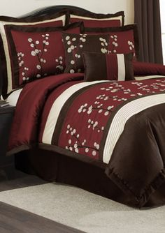 1000 images about bedroom ideas on pinterest bedding for Maroon bedroom designs